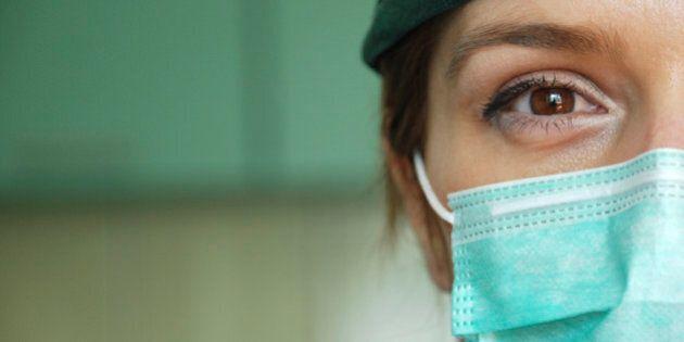 female surgeon closeup in
