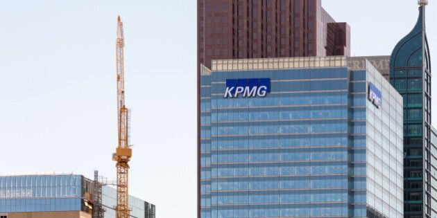 TORONTO, ONTARIO, CANADA - 2015/05/23: Trump building,KPMG building,and Scotiabank tower in downtown...