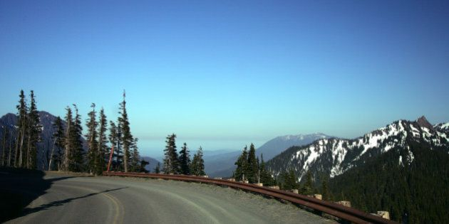 Road to Hurricane Ridge, Olympic National Park,