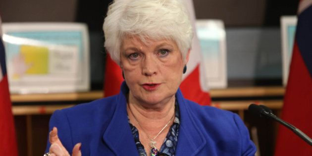 TORONTO, ON - DECEMBER 3, 2013. Liz Sandals, the Ontario Minister of Education, announced the introduction...