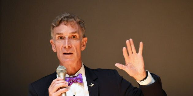 TOKYO, JAPAN - AUGUST 06: Scientist/educator Bill Nye attends 'The Science Guy: Science Can Save The World!' at National Museum of Emerging Science and Innovation on August 6, 2015 in Tokyo, Japan. (Photo by Jun Sato/Getty Images)
