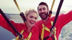 Kate Upton Lives Life On The Edge While Visiting