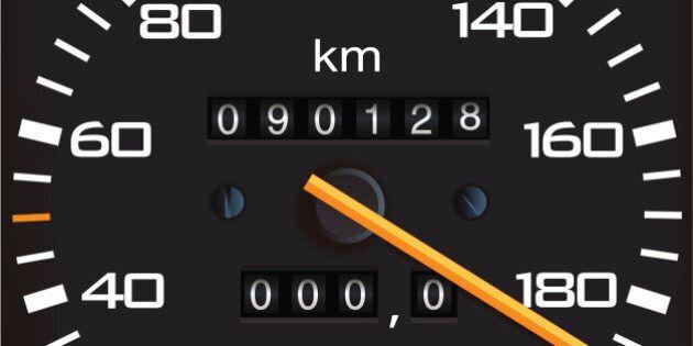 Vector detailed speedometer, easy for