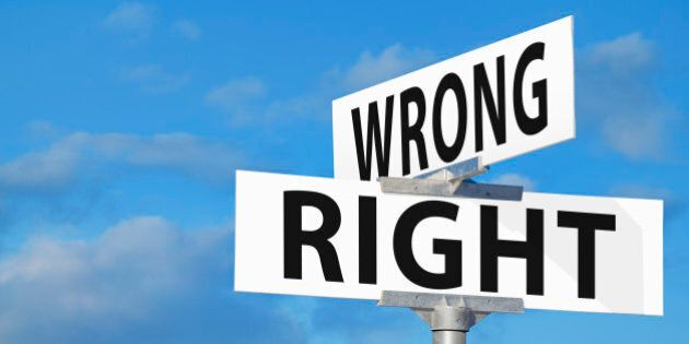 Wrong Versus Right Street