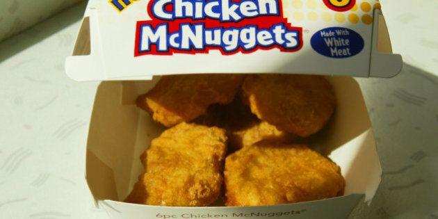 NEW YORK - OCTOBER 6: New McDonald's Chicken McNuggets are shown October 6, 2003 in New York Ctiy. McDonald's...