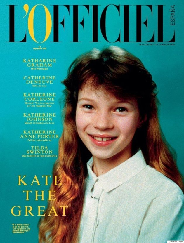 Pre-Teen Kate Moss Covers The Debut Issue Of L'Officiel