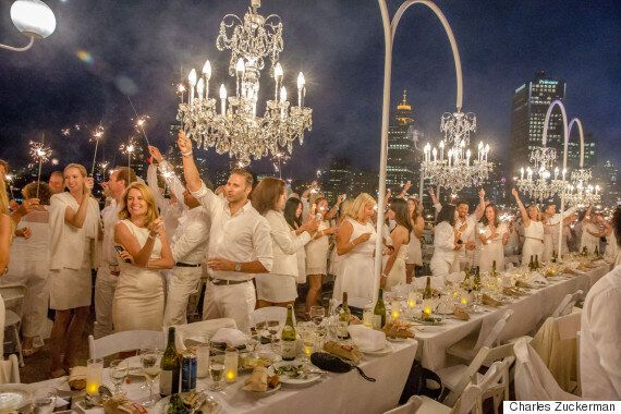 Diner En Blanc Vancouver 2015 Included A Wedding, While Ce Soir Noir Had Giant
