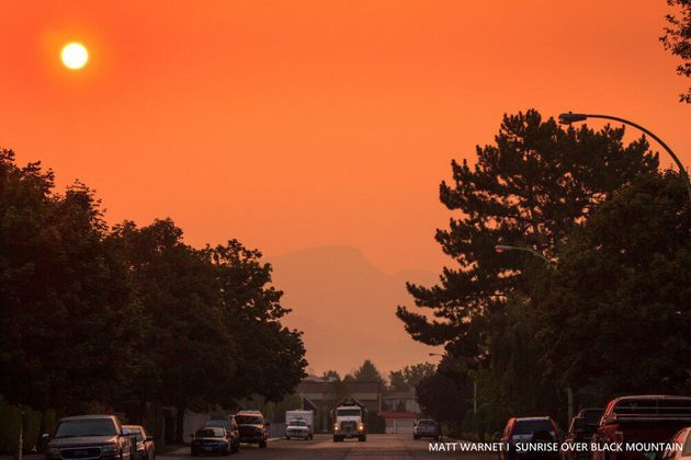 Washington Wildfire Smoke From Expected To Shroud B.C. For Several More