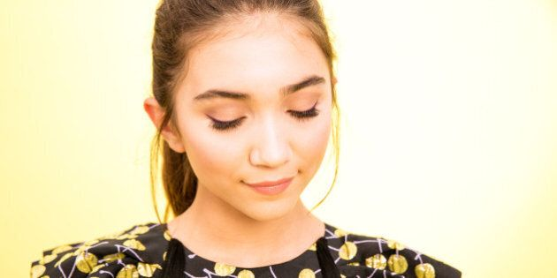 LOS ANGELES, CA - AUGUST 16:  Actress Rowan Blanchard poses for a portrait during the 2015 Teen Choice Awards FOX Portrait Studio at Galen Center on August 16, 2015 in Los Angeles, California.  (Photo by Christopher Polk/FOX/Getty Images For FOX Teen Choice)