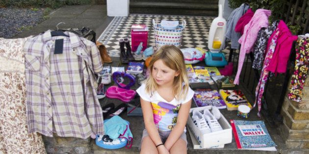 girl garage sale