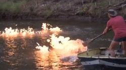 Australian Politician Lights River On Fire To Protest
