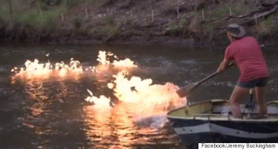 River Catches Fire Due To Fracking, Says Australian