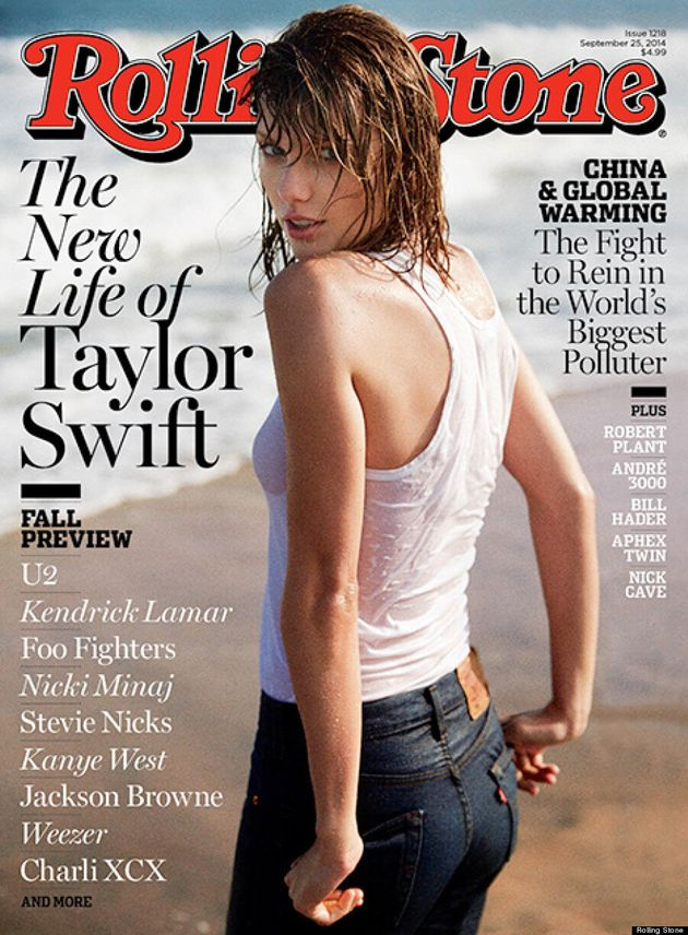 Taylor Swift Poses For Rolling Stone In Wet Tank