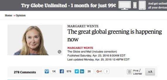 The Globe And Mail Apologizes After Columnist Margaret Wente Accused Of