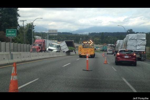 Truck Spills Massive Load Of Green Beans On Surrey Highway