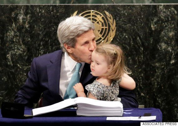 John Kerry's Granddaughter Was The Cutest Addition To The Paris Climate