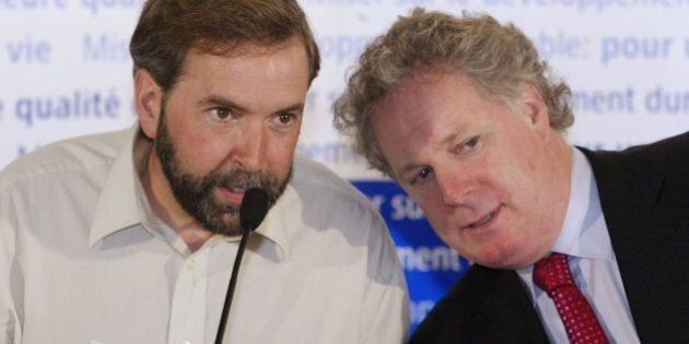 Mulcair Looks To Mimic Charest's 2003 Quebec