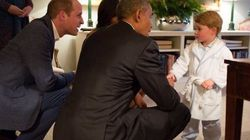No Big Deal, Prince George Just Met Obama While Wearing