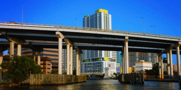 miami river downtown elevated
