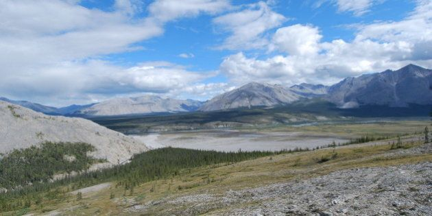 View overlooking the broad open valley of the Wind River in the Yukon's Peel Watershed. © Jill