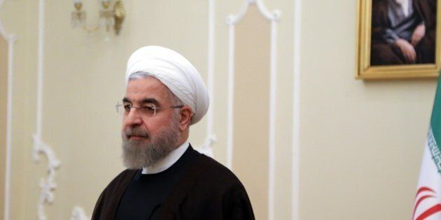 TEHRAN, IRAN - AUGUST 04: Iranian President Hassan Rouhani holds a meeting with Serbian Foreign Minister...