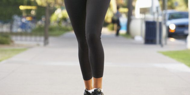 young woman jogging on