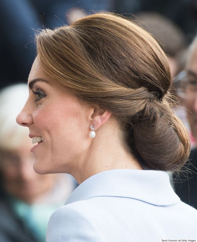 The Secret To Kate Middleton's Perfect Chignon Is A