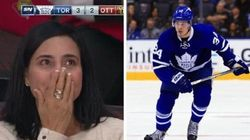 Auston Matthew's Mom's Reaction To His 1st Game Is A
