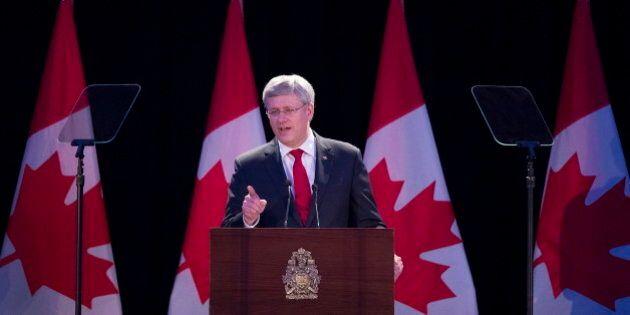 Harper Attacks 'Evil' Communism In Lengthy Keynote