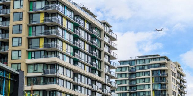 Modern apartment buildings. Vancouver, BC, Canada