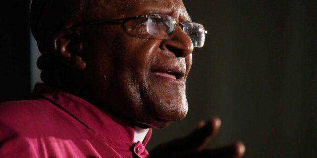 JOHANNESBURG, SOUTH AFRICA - DECEMBER 09: South African Nobel laureate Archbishop Desmond Tutu speaks...