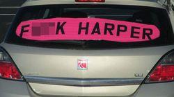 Edmonton Man Will Fight $543 Fine For 'F*CK HARPER'