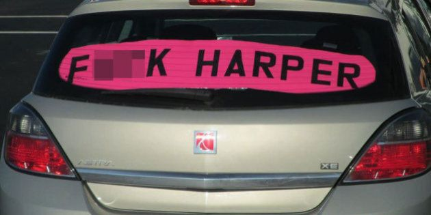 'F*CK HARPER' Sign Leads To $543 Fine For Edmonton