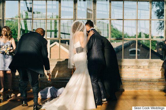 Bridesmaid Falls In Surprising Wedding