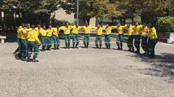 South African Firefighters Greet B.C. With Best. Hello.