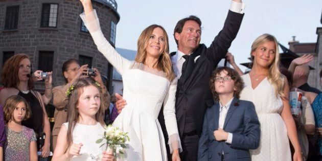 Pierre Karl Peladeau, Julie Snyder Tie The Knot In Grand Quebec City