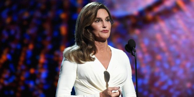 LOS ANGELES, CA - JULY 15: Caitlyn Jenner accepts the Arthur Ashe Courage Award and speaks onstage during...