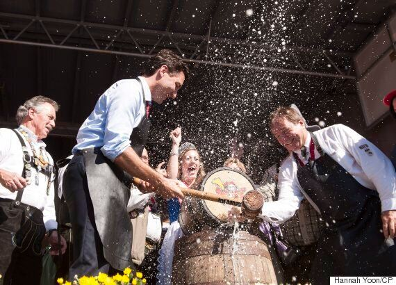 Trudeau Taps Oktoberfest Keg, Says He May Wear Lederhosen Next