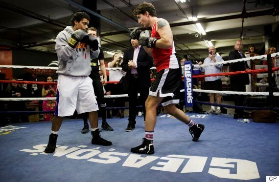 Justin Trudeau Goes Boxing In New York
