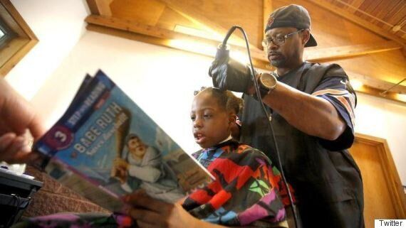 Barber Gives Kids Free Haircuts If They Read Him A