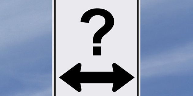 modified one way sign