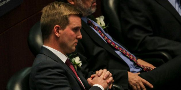 TORONTO, ON- DECEMBER 2 Councillor Joe Cressy Ward 20 attends his first council meeting December 2, 2014....