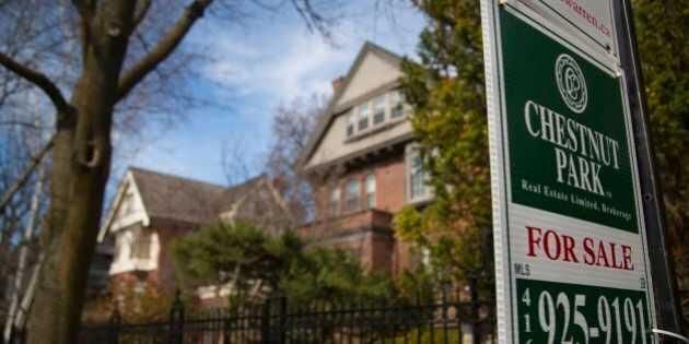 TORONTO, ON - APRIL 14:A single detached house in the High Park / Roncesvalles neighborhood is available...