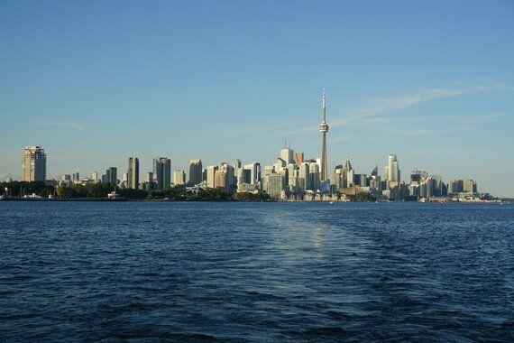 Soaking Up the Toronto Skyline on an Evening