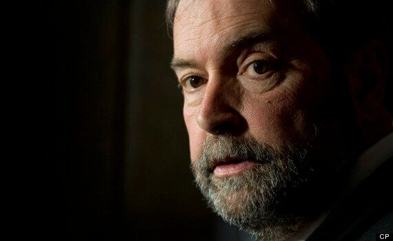 Federal Election 2015: May Says Mulcair Is Allowing Harper To Avoid Broadcasters'