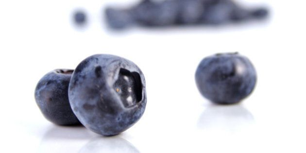 blueberries on white background ...