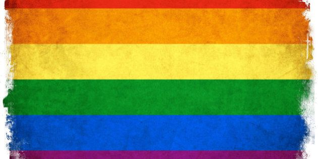 Grunge Rainbow flag background illustration of gay and lesbian