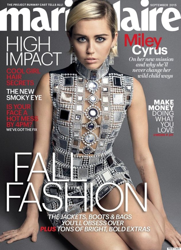 Miley Cyrus Goes '60s Chic On The Cover Of Marie Claire's September