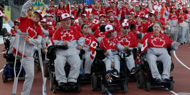 TORONTO, ON - AUGUST 7 xxx during the opening ceremonies of the Parapan Am Games, Toronto. August 7,...