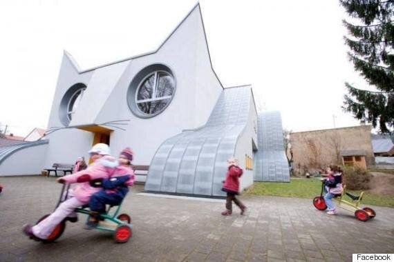 Cool School: Cat-Shaped Kindergarten Makes Us All Want To Go Back To
